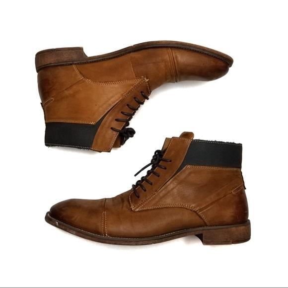 Steve Madden Radon Cap Toe Leather Boot
